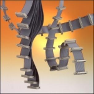 Einfach oder doppelt extrudierte Flachbandleitungen, Hybride mit LWL, mit Koax- oder mit CAT- Leitungen