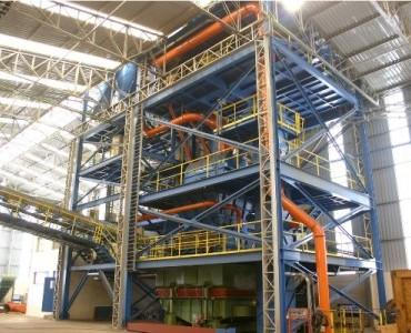 Sand conveyors and fluidized bed sand coolers,  Bentonite, graphite and additive dosing and intensive mixing, Dedusting equipment,Process automation