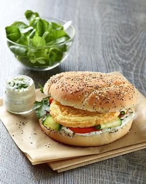 Burger omelette