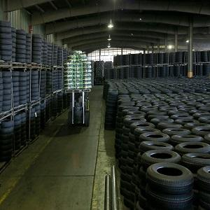 Iran tire centeral warehouse with large capacity to keep products safe and with care.