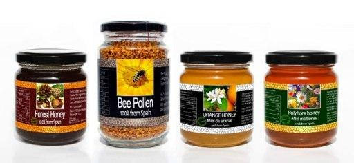 Gourmet pack of Spanish honeys and Spanish bee pollen.
