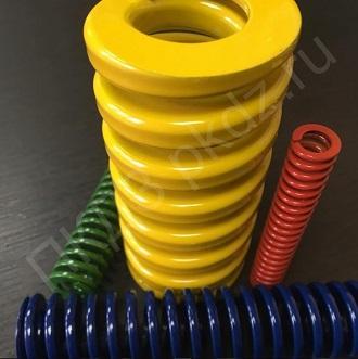 Пружины из прямоугольной проволоки. Все цвета в наличии: зеленые, синие, красные, желтые.