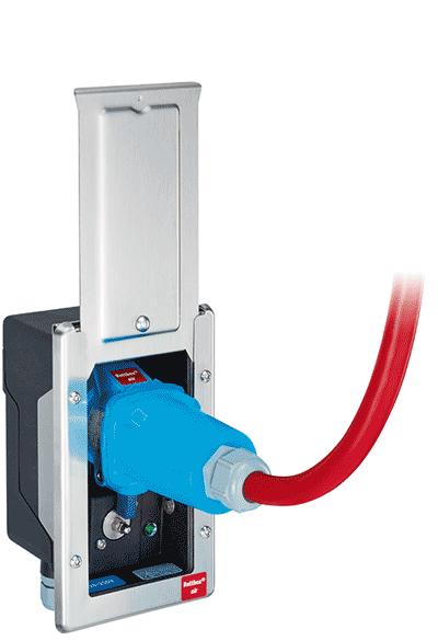 Die innovative Strom- und Druckluftversorgung für Rettungs- und Feuerwehrfahrzeuge mit automatischer Trennung beim Startvorgang!  20A oder 32A
