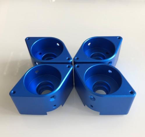 Blue anodized aluminium parts