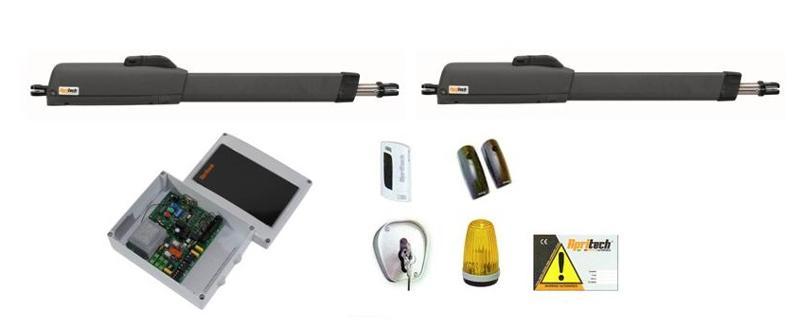 Kit Apritech per cancelli a due ante battenti di peso max 300Kg e lunghezza max di mt 3 per ogni anta.