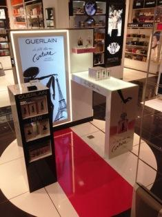Habillage meuble promotionnel Guerlain