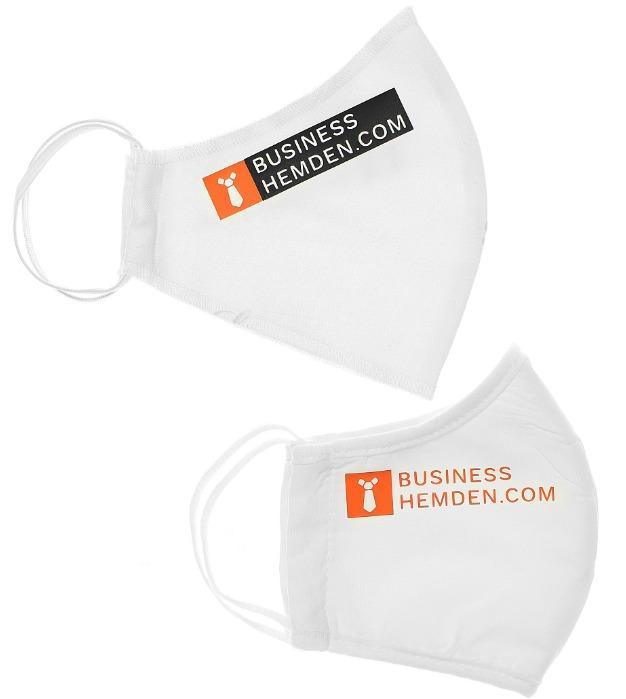 Alltagsmasken mit Logo ✅ angenehmer Behelfs Mundschutz mit Logo von Van Laack