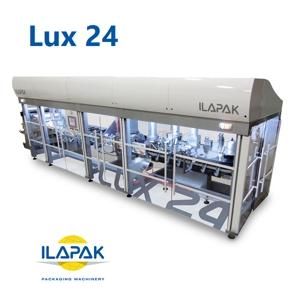 High speed pouch machine for Pillow and Doypack solutions. The Ilapak Lux 24 is a revolutionary new range of innovative high speed pouch machinery with an unique dual motion system.