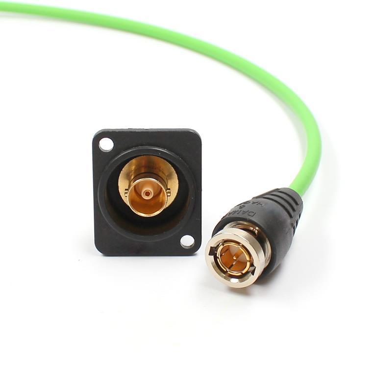 BNC-Steckverbindung für extreme Anwendungsgebiete (z.B. Ü-Wagen) für Ultra HD/4K, 75 Ohm  und -28 dB bei 6 GHz und mind. 2.000 Steckungen, steckkompatibel mit allen marktüblichen BNC-Steckverbindern.