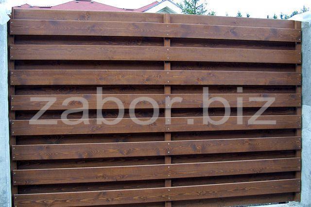 Деревянные заборы для домов и коттеджей фото