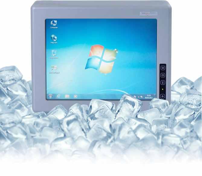 Staplerterminal für Tiefkühlbereiche bis zu Temperaturen von -30°C. Mit integrierter Heizung und beheiztem Display gegen Kondensatbildung