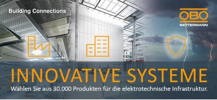 Innovative Systeme von OBO Bettermann