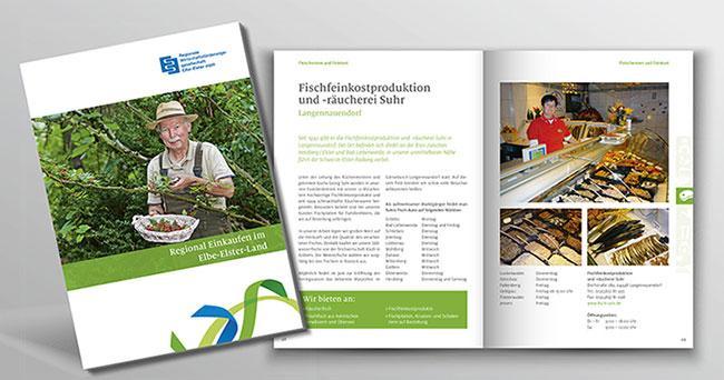"""Referenz: Broschüre """"Regional einkaufen im Elbe-Elster-Land"""""""