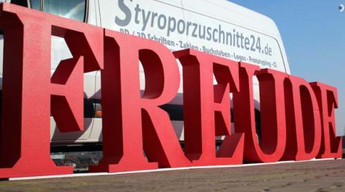 3D Buchstaben aus Styropor