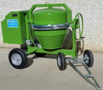Capacity available   is 350lt. Engine: electric, diesel, petrol. Model avalible without engine. Wheels: pneumatic.