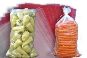 Transparent Polyethylene bags are used for packaging of carrots, beet root, cucumbers ... Stabdardized dimensions. Dimension, thickness and color of the bag can be made on request of the buyers also.