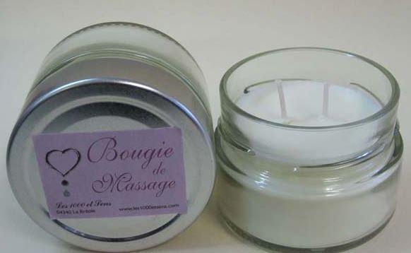 Bougie de massage au Millepertuis parfum Amande Douce