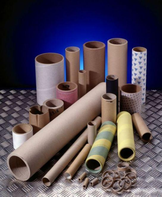 Spiral wound paper tubes or cores