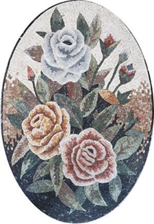 Mosaic Flower Panel