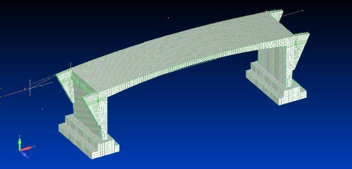3D / FE Model of the Road arch bridge