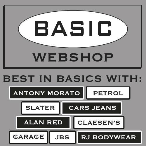 Basic Mode Webshop merken : Alan Red , Garage , Slater , Petrol , Beeren , Cars Jeans , HOM , Ten Cate , RJ Bodywear , Bolas Underwear , MEY , Schiesser , Antony Morato en Claesens. Bestel online.