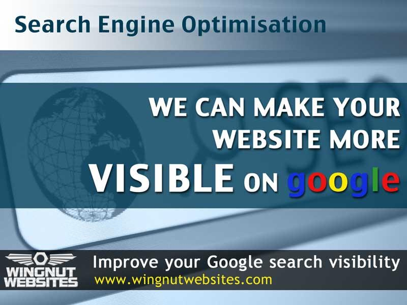 Wingnut Websites specialise in improving your Website's google page ranking by employing Search Engine OPtimisation (SEO) techniques.