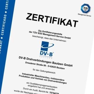 DV-B Zertifikat ISO 9001:2008