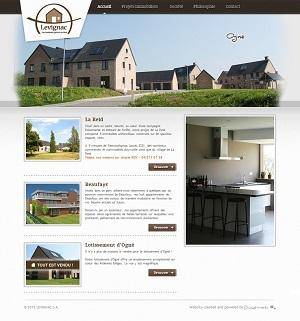 This is an example of website that we produced for a real estate company.  www.levignac.be