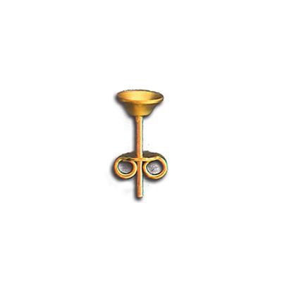 Pernio con base concava mm 5,5 con dadino in ottone.