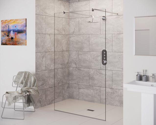 DOUBLE ENTRY WETROOM PANEL