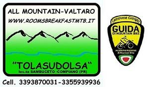 Logo Tolasudolsa e logo Guida MTB
