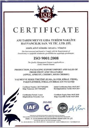 We hold the international management standards and certificates.