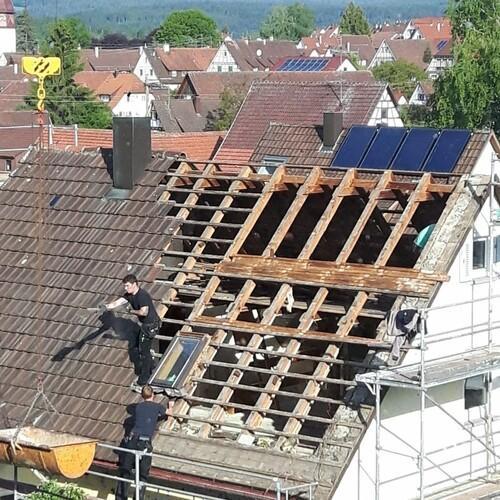 Dach Abbrucharbeiten