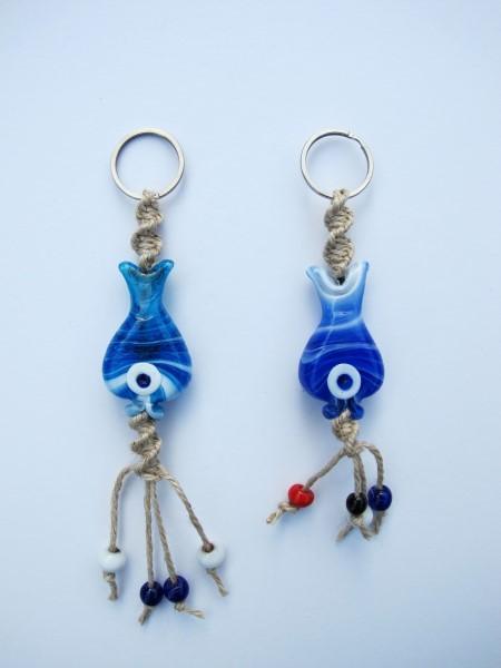 handmade glass keychain