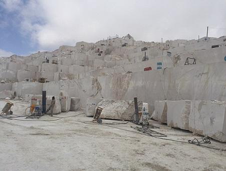 Shayan Beige marble quarry
