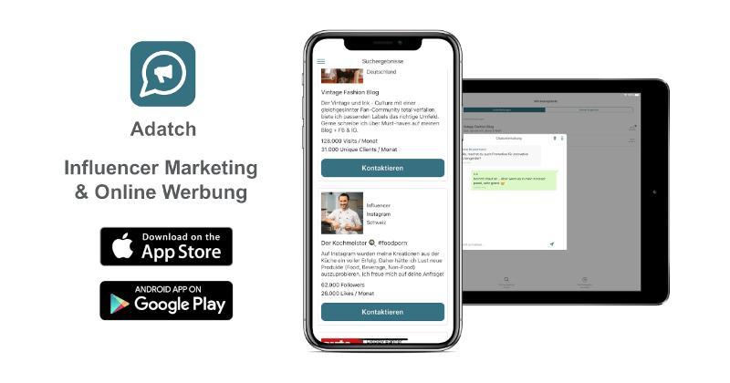 Adatch: App für Influencer & Online Marketing