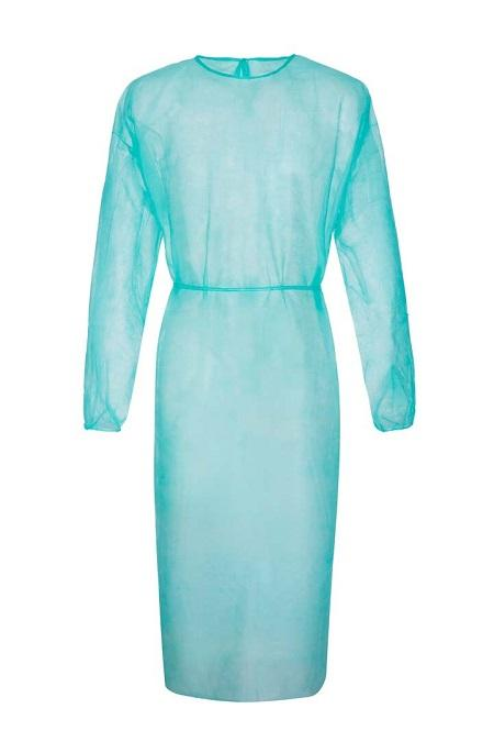 Disposable gowns  ideal use for visitors The gown  consist of soft non-woven fabric that has a   an open  back and two tie-belts.