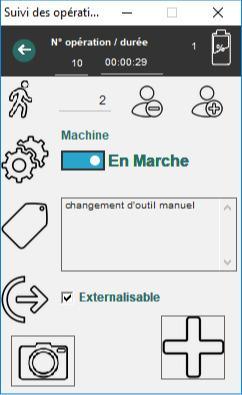 Ecrans d'applications de traçabilité sur mesure