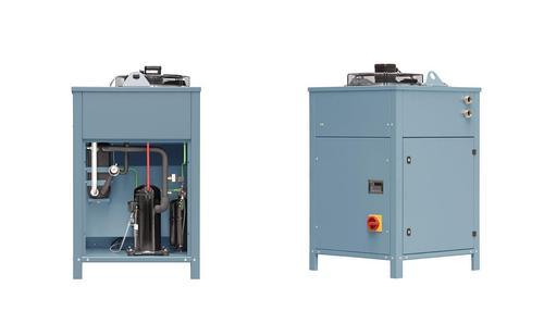HOFFMANN Continuous-Flow Coolers DRK are the powerful solution to cool clean fluids.Continuous-Flow Coolers have a pump to transport the fluid to be cooled into the evaporator of the cooler.