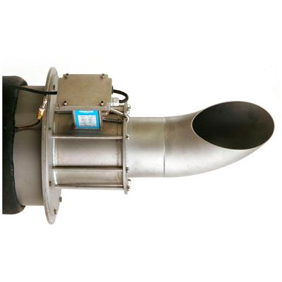 Insertable full bore electromagnetic flow meter for open channel applications.