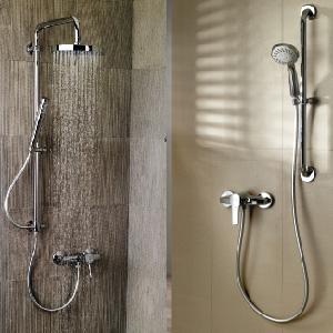 Pour une douche en toute sûreté et confiance nous  proposons la barre de douche et d'appui pour une meilleure sécurité grâce à sa fixation renforcée
