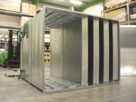 Silencieux à coulisses permettant de filtrer le bruit dans les réseaux de ventilation