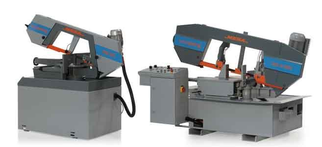 MEBAswing 260 DG - Doppelgehrungssäge Manuell - Kompakte Bauform - Schwenkbereich +/- 30° beidseitig // MEBAswing 320 G-HSS - Gehrungssäge Halbautomat - http://www.meba-saw.de/index.php?lng=de&page=3