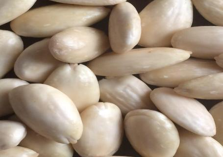 The Almond blanched (peeled) kernel is prepared by a very professional method and in different shapes (whole, slices, slivered, grounded and powder. It is mainly used in chocolate, pastry & ice cream.