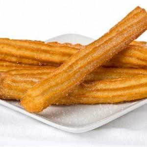 Frozen churro gourmet. Not fries only warm