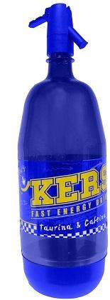 KERS ENERGY DRINK in blue bottle of 1.5 liter with dosign siphon