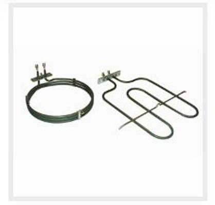 Resistenze corazzate in acciaio inox (AISI 321o INCOLOY 800) per forni statici grill e per forni ventilati, per applicazioni domestiche e industriali.