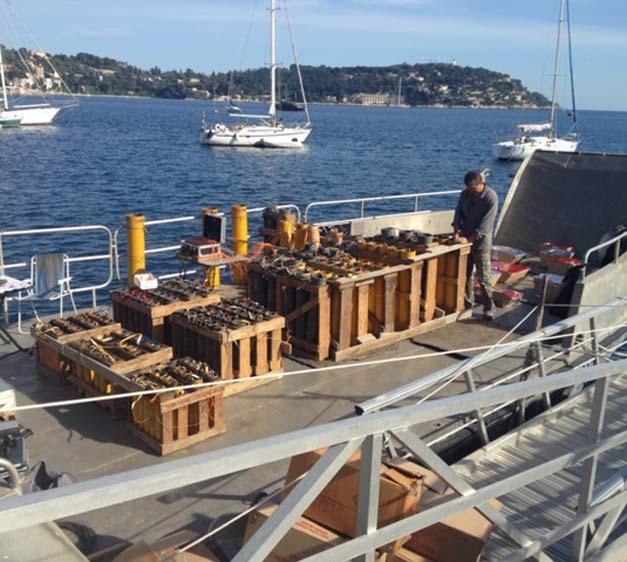 Barges sur la Riviera