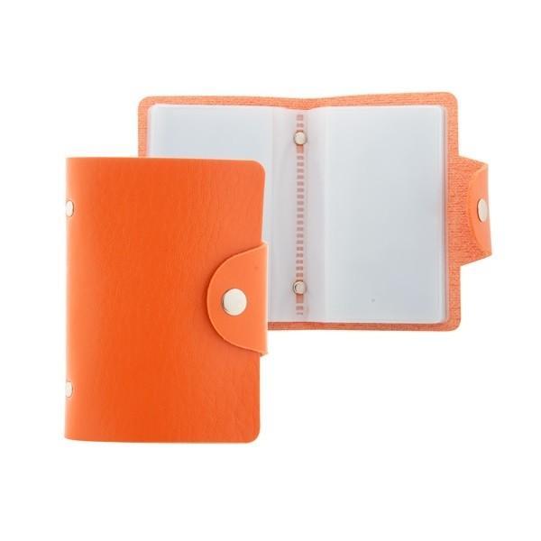 Porte-cartes de crédit en cuir pour 10 cartes avec fermeture bouton-pression.80×107×10 mm
