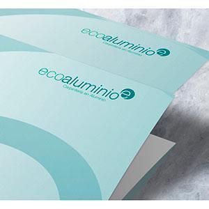 Diseño de Marca e Identidad para Ecoaluminio  Para más Información de este trabajo visite: http://www.almasdepapel.es/ecoaluminio/